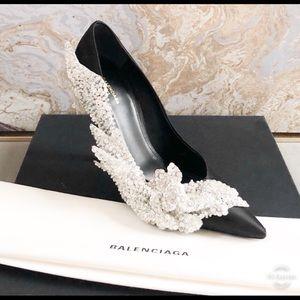 608f54b261a Balenciaga Shoes - New Balenciaga Talin Slash Crystal BlackPump Heels